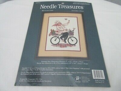 Needle Treasures Counted Cross Stitch Kit  ~ Bicycling Chef
