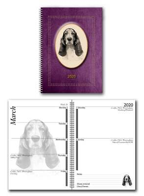 Basset Hound 2020 Large Dog Show Diary with Show Dates in 7 colours