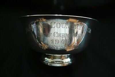 """Vintage Sterling Silver """"Paul Revere"""" Reproduction Bowl  **Fisher 1946**"""