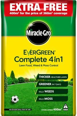 Miracle-Gro Evergreen Complete 4 in 1 360m2 PLUS 10% Free  Lawn Food 119692