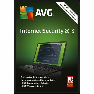 AVG Internet Security 2019 - 1 PC / 2 Jahre Vollversion / Upgrade - Download Key