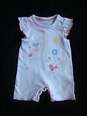 Baby clothes GIRL premature/tiny<7.5lbs/3.4kg pink birds,flowers,romper SEE SHOP