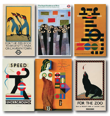 12 London Underground / Zoo Travel Posters - Penguin, Tiger etc - A4 A3 A2 A1 A0