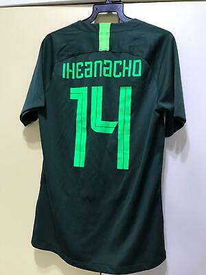 Nigeria National Team Football Away Jersey World Cup 2018, BNWOT, with Iheanacho