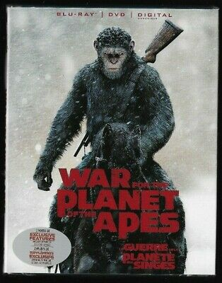 Sealed Blu-Ray Disc DVD Digital - WAR FOR THE PLANET OF THE APES - Also French