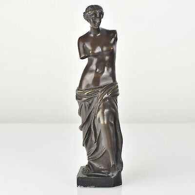Antique French Bronze Sculpture Figurine Venus De Milo 1910s Grand Tour Souvenir