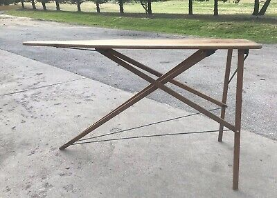 Ironing Iron Board Antique 1900 - 1949 Wood Solid Sturdy Primitive