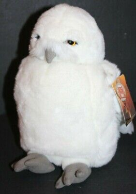 Harry Potter Owl Puppet Plush Hedwig Gray White Moving Head Toy Stuffed Animal