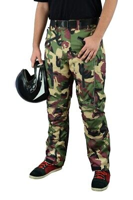 Motorbike Motorcycle Waterproof Cordura Textile Trousers Pants CE Armours CAMO