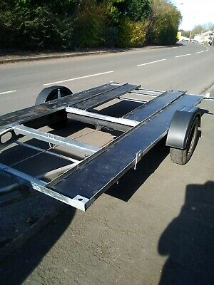 Car transporter trailer easy to move around and lightweight to tow kit car etc