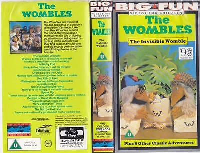 The Wombles The  Invisible Wombles Plus Other Stories Video Vhs A Rare Find
