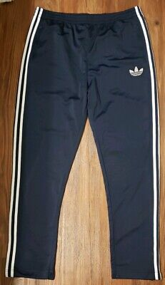 6d22d8ff Adidas Training Workout Pants Blue White 2XL XXL Warm Up Joggers 3 Stripes