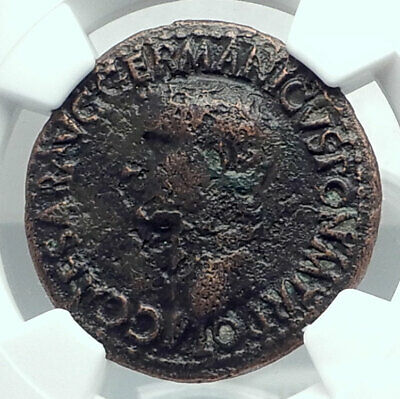 CALIGULA Ancient Original 37AD Rome Authentic Roman Coin NGC Certified i78434