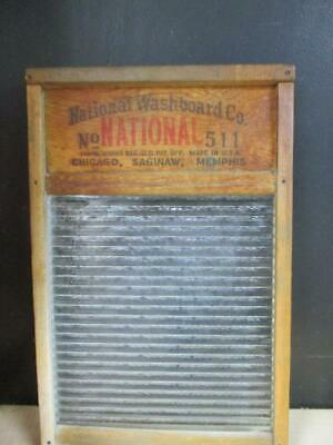 Vintage Atlantic Glass Washboard No.511 National Washboard Co.
