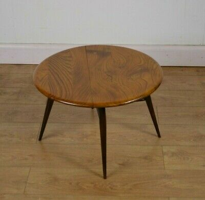 ERCOL Drop Leaf Coffee Table, Solid Elm And Beech