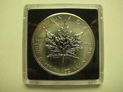 1990 Bullion $5 1 oz .9999 Silver Maple Leaf SML Canada five dollars