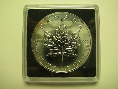 1993 Bullion $5 1 oz .9999 Silver Maple Leaf SML Canada five dollars