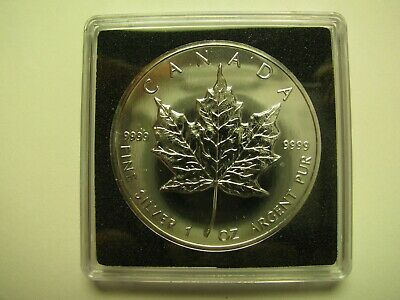 1996 Bullion $5 1 oz .9999 Silver Maple Leaf SML Canada five dollars