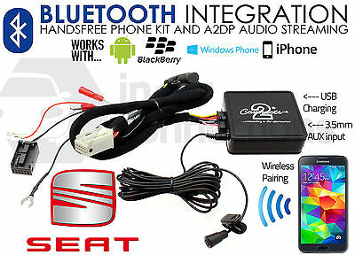 Seat Toledo Bluetooth music streaming handsfree car AUX 2005 - 2011 CTASTBT002