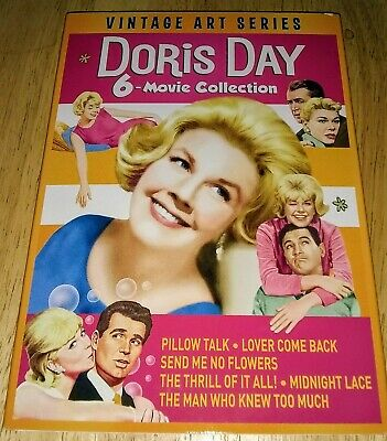 6 DORIS DAY Movies on DVD: Pillow Talk, Lover Come Back, Midnight Lace, & etc.