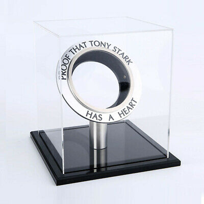 Marvel Avengers Iron Man Arc Reactor Black Acrylic Display Case Box Men Kid Gift
