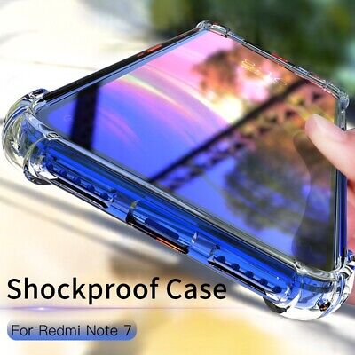 For Xiaomi Redmi Note 7 Shockproof  Clear Soft TPU Protective Case Cover US jc