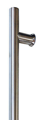 Single 1200mm 32mm Round Stainless Steel Front/Entry Entrance Pull Handle