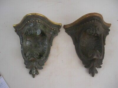 Faux Tortoise Shell Gold Gilt Highlights Wall Bracket Shelves Grand Tour Style
