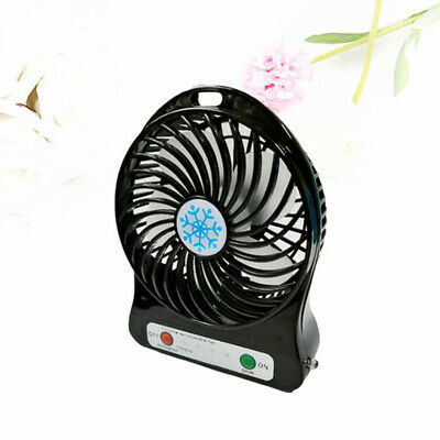 Noir Mini ventilateur Portable ordinateur de poche batterie Rechargeable USB FR