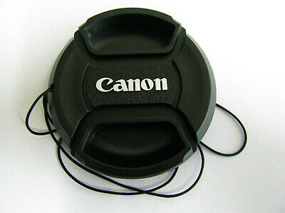 """Canon 49mm """"Centre Pinch"""" Snap-on Lens Cap with String- Brand New"""