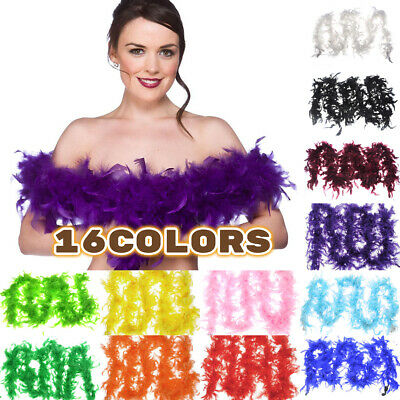 2M Feather Boa Strip Fluffy Craft Costume Dressup Wedding Birthday Party Decor