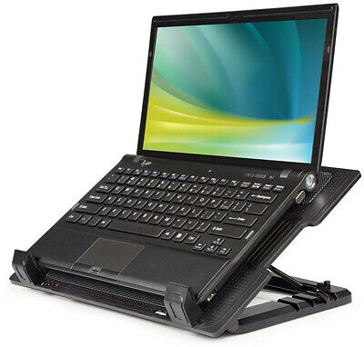 Laptop Cooling Stand Pad 9 - 17 Inch Quiet Fan USB Mat Tray Desk Table Station