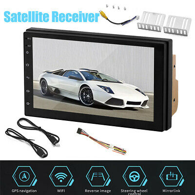 """7"""" Inch Double Din Android 8.1 Car Stereo GPS Navigation Radio Player WIFI UK"""