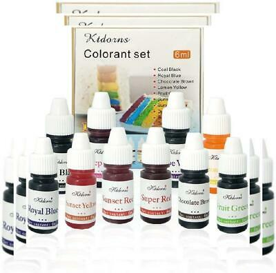 Food Colouring dye Flo Concentrated Liquid Air Brush - 10colour-6ml
