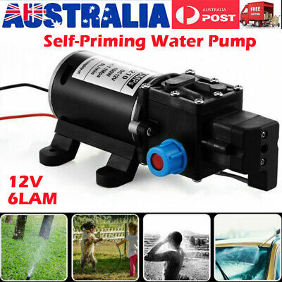 12V 70W Water Pump 6Lpm Self-Priming Caravan Camping Boat High Pressure AU Stock