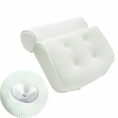 Breathable 3D Mesh Spa Bath Pillow with Suction Cups Neck & Back Support Soft