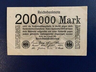 Germany - 200 000 Mark  Banknote 1923-Berlin-Inflation - Very Fine