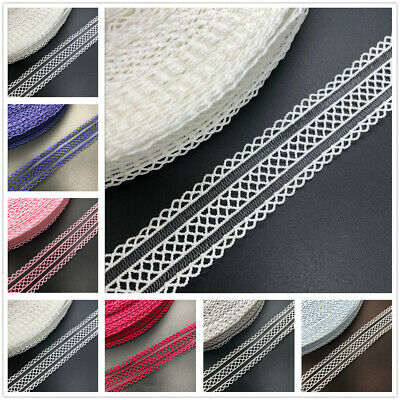 """NEW 5 Yards 3/4 """"20MM Elastic Force Hollow Out Lace Spand elastic Ribbon Sewing"""