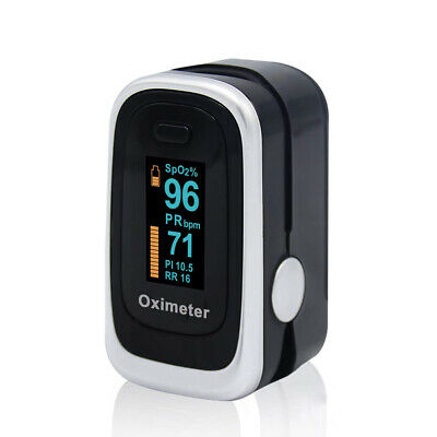 Fingertip Pulse Oximeter SPO2 PR RR PI Blood Oxygen Heart Rate Monitor OLED