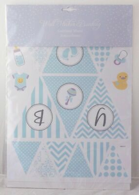 SIL Stickers murales BABY style bannière rose ou bleu