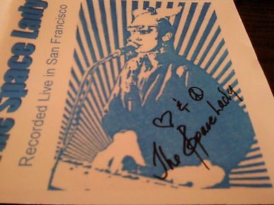 Signed ORIG CD THE SPACE LADY Live in San Fransisco COSMIC SYNTH KRAUT OUTSIDER!