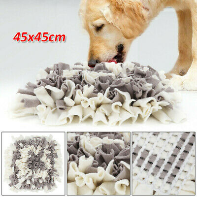 Dog Snuffle Mat Pet Stress Training Relieving Nosework Washable Mixed Colour UK