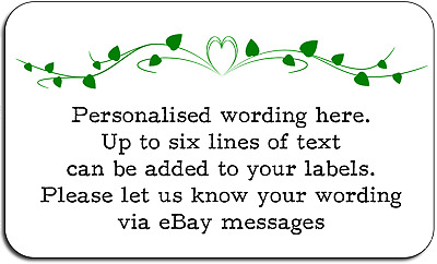 Green Ornament Style Flower Personalised Labels with FREE protective wallet