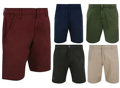 Mens Cotton Chino Summer Shorts Various Colours