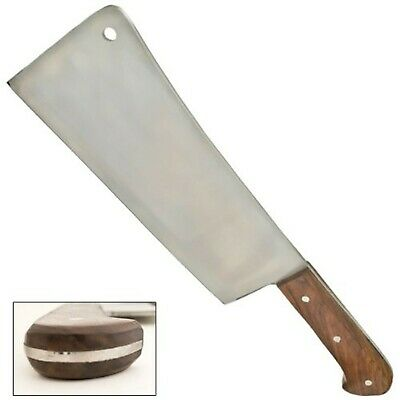 Tiger USA Full Tang Meat Cleaver - 10 Inch Blade - Wood Handle