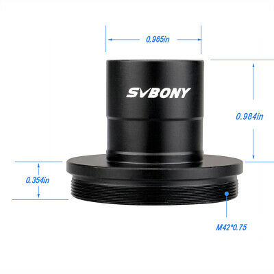 """SVBONY 0.965"""" to T2 Mount 0.965in Eyepiece Insertion to M42 Prime Telescope NEW"""