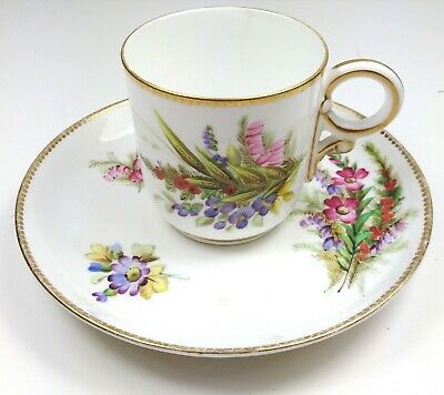 Beautiful antique Hand painted Royal Worcester 8173 cup and saucer