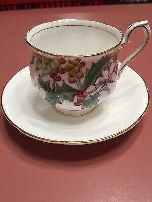 Vintage Royal Albert Bone China Cup And Saucer Flower Of The Month #12 Gold Trim