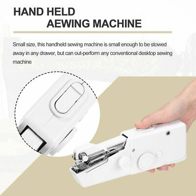 Mini Portable Household Electric Handheld Sewing Machine Battery Powered##
