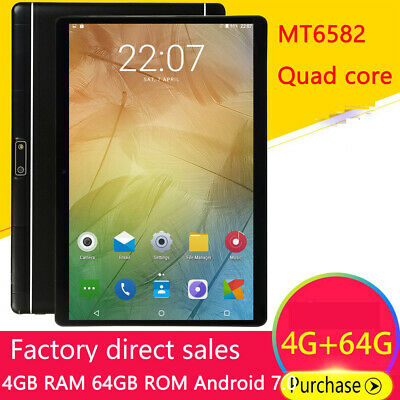 """Tablette PC MT6582 10.1"""" Octa Core 64 Go ROM 4 Go RAM Android 7.0 Double Sim"""